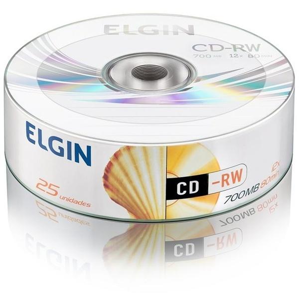 CD-RW REGRAVAVEL ELGIN 700MB/ 12X. c/25UN.