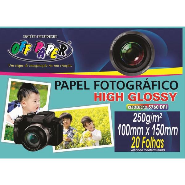 Papel Foto 10x15 - 250g Off Paper - 20FLS