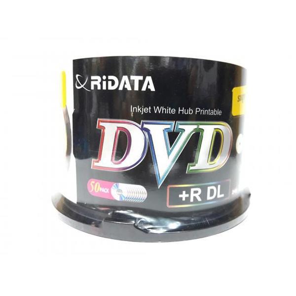 DVD+R 8.7GB RIDATA DUAL LAYER - PRINTABLE C/50Un.