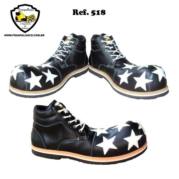 Sapato Palhaço Preto Estrela Ref 518