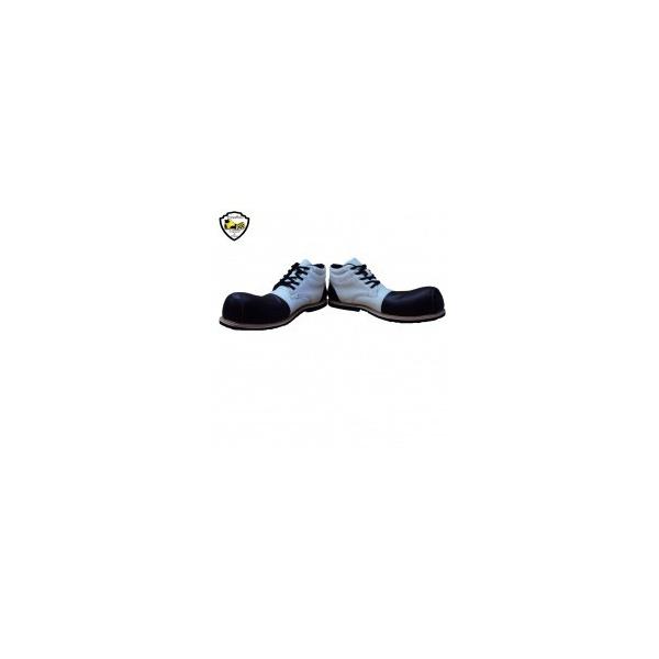 Sapato de Palhaço Branco e Preto Ref 510