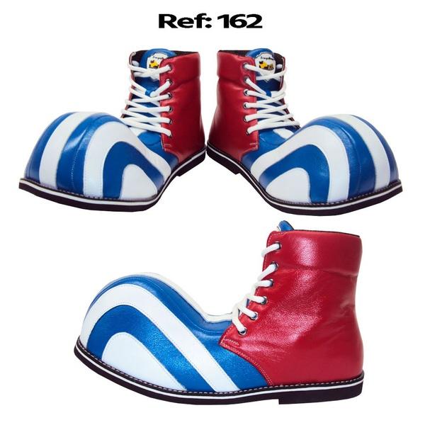 Sapato de Palhaço Listrado Cano Alto Ref 162