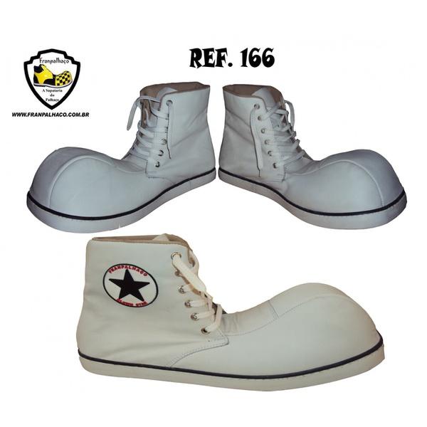 Sapato de Palhaço Clonwstar Branco Ref 166