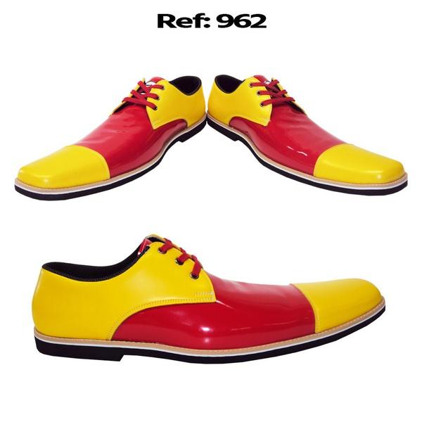 Sapato de palhaço social clássico Ref 962
