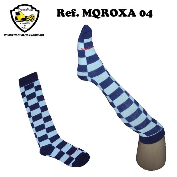 MEIA QUADRICULADA ROXA Ref MQROXA 04