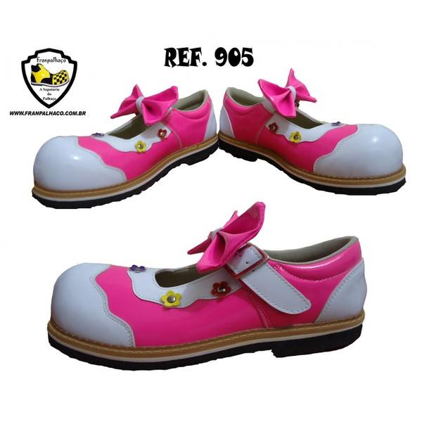 Sapato de Palhaço Feminino Rosa com Laço Ref 905