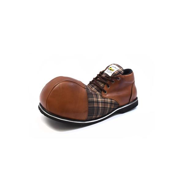 Sapato de Palhaço Vintage Xadrez ref. 154