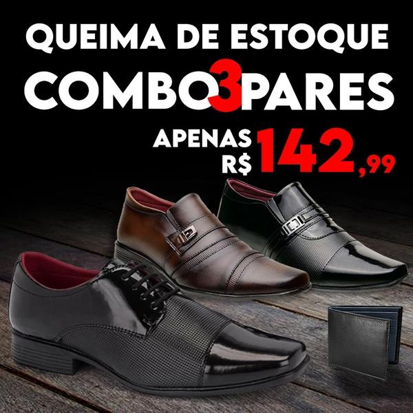 Kit com 3 Pares 839FC/803FC/801VP + Carteira