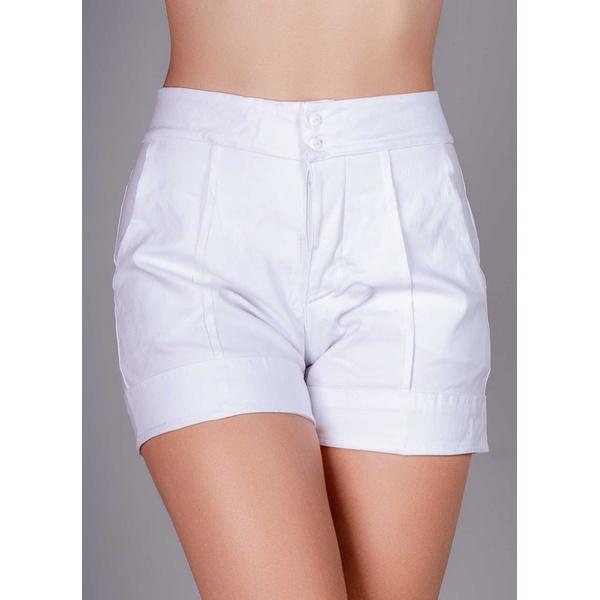 Short Nervura Jeans em Viscose