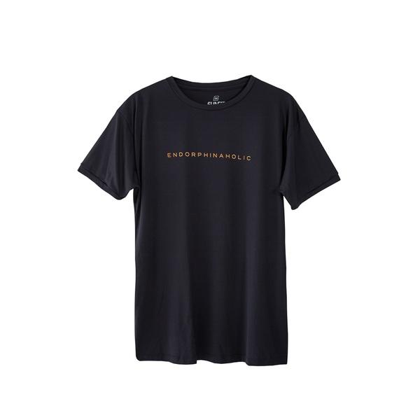 Camiseta Masculina Funfit - Endorphinaholic Preta