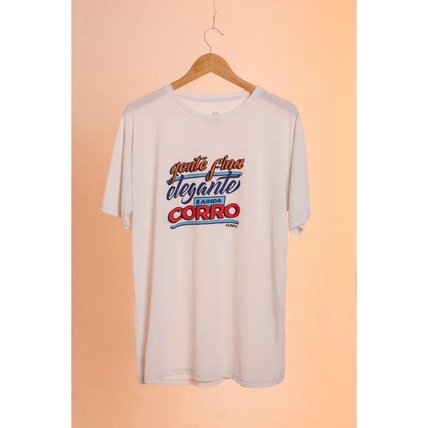 Camiseta Masculina Funfit - Gente Fina Elegante E ainda corro Gelo