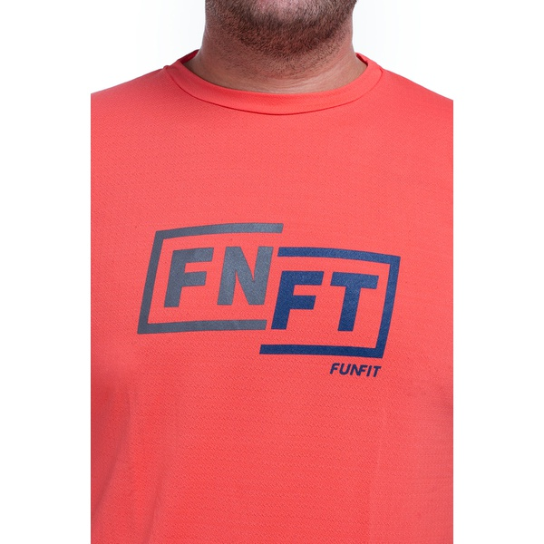 Camiseta Masculina Funfit - FNFT Laranja Crepe