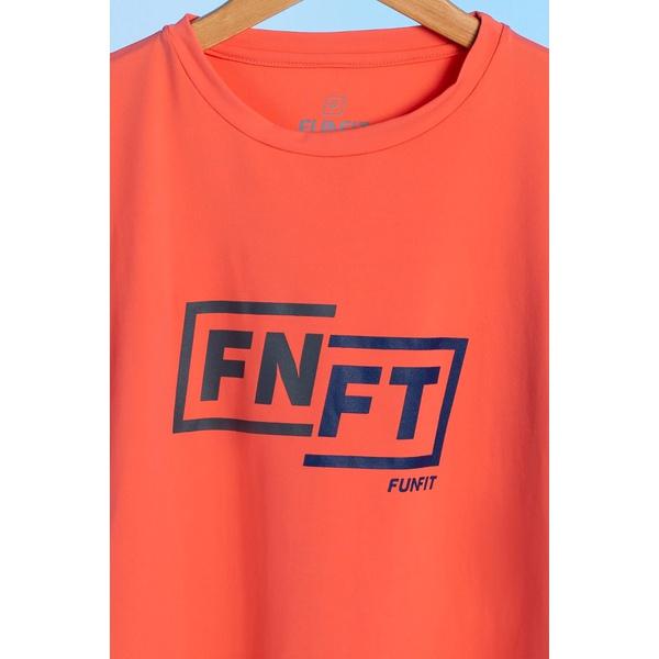 Camiseta Feminina Funfit - FNFT Laranja Premium