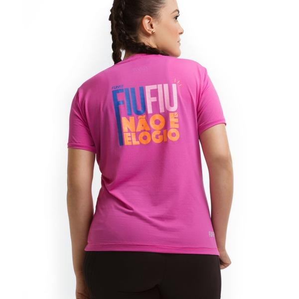 Camiseta Feminina Funfit - Fiu Fiu Não é Elogio Rosa
