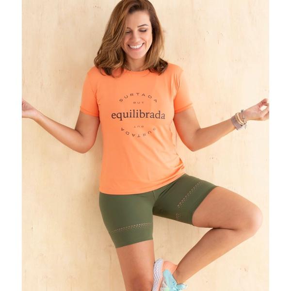 Camiseta Feminina Funfit - Equilibrada
