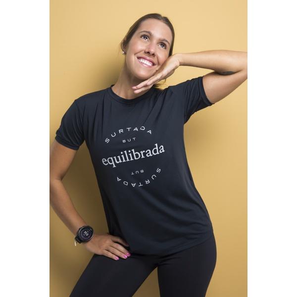Camiseta Feminina Funfit - Equilibrada Preta