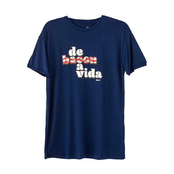 Camiseta Masculina Funfit - De Bacon a vida