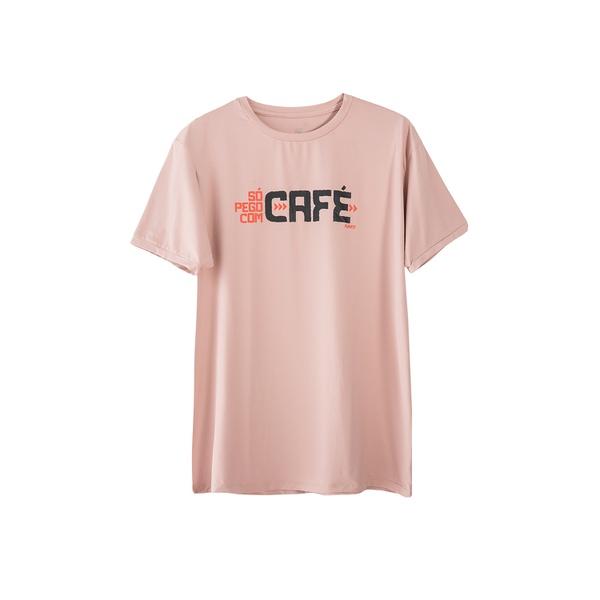 Camiseta Masculina Funfit - Só Pego Com Café Rosa