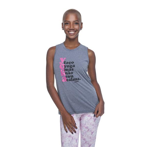 Regata Feminina Funfit - Faço yoga
