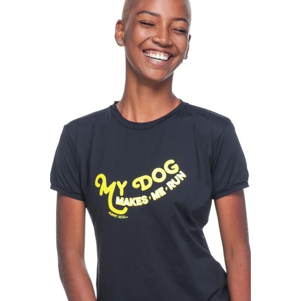 Camiseta Feminina Funfit - My Dog Makes Me Run