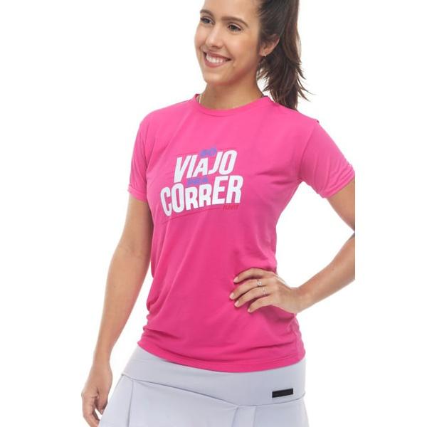 Camiseta Feminina Funfit - Só Viajo Pra Correr