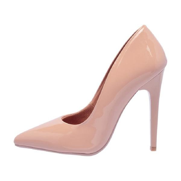Sapato Feminino Scarpin Verniz Nude