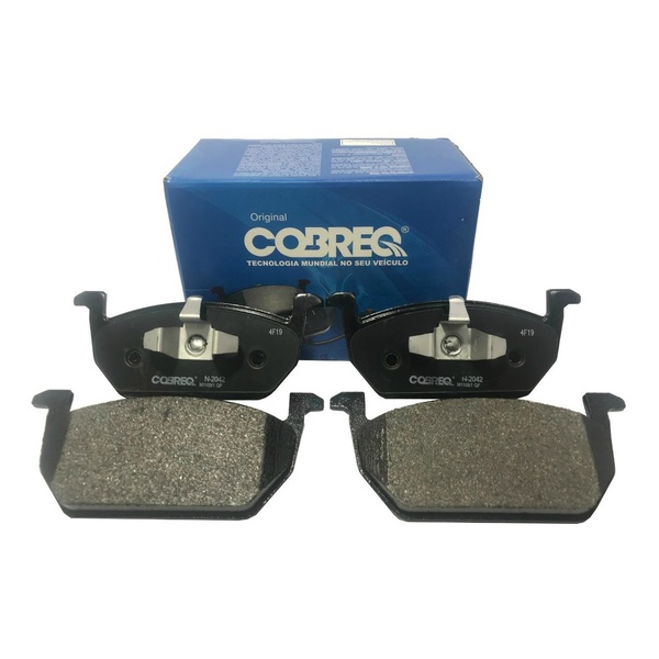 Pastilhas de freio dianteira - Cobreq - N2042 ( Arona, A1, Ibiza, Leon, Novo Polo, T-Cross, Virtus Conftline, Virtus Highline )