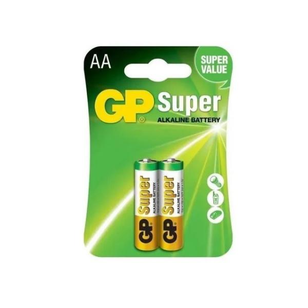 PILHA GP SUPER ALCALINA AA 1,5V (02 UNIDADES)