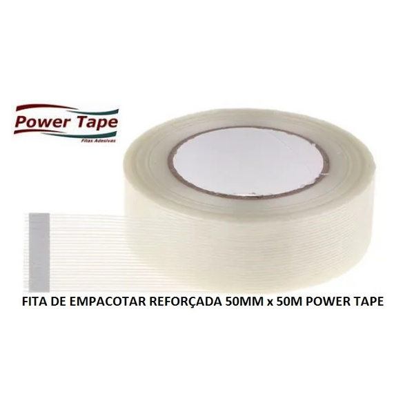 FITA EMPACOTAR REFORÇADA 50MMX50M POWER TAPE