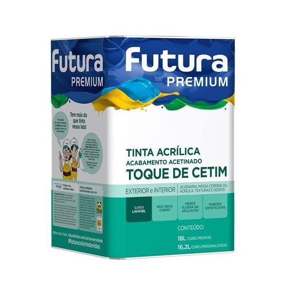 TINTA ACRÍLICA ACETINADO BRANCO FUTURA 18 L