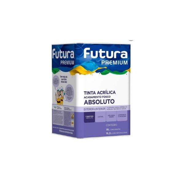 LATEX ACRILICO PREMIUM FOSCO FUTURA PEROLA 18 LITROS