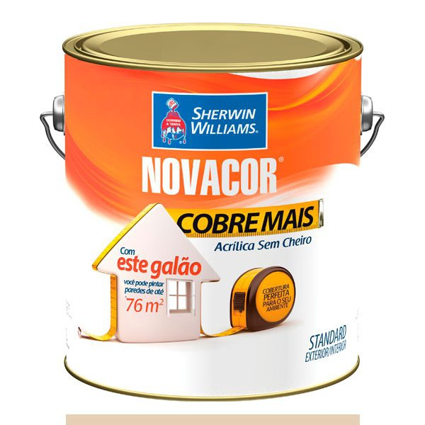 NOVACOR ACRÍLICO COBRE MAIS PALHA 3,6LTS