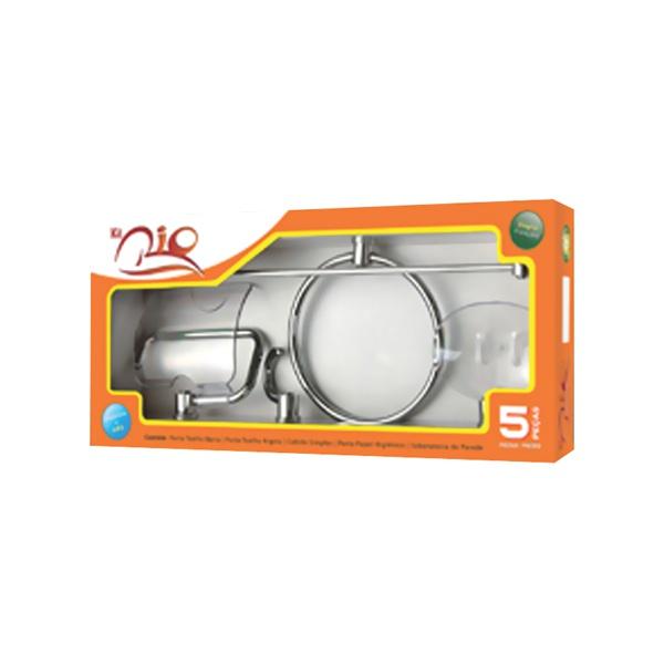 Kit Acessórios Para Banheiro Rio 5 Peças