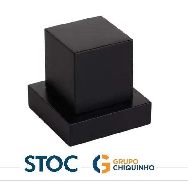 ACABAMENTO P/ REGISTRO QUADRADO METAL PRETO 1/2 3/4 1 STOC METAIS