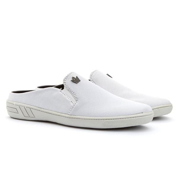 Mule Casual Masculino Calce Fácil Branco Sola Costurada 571-db