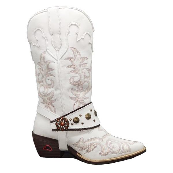 Bota Texana Feminina 6815 Country Cano Longo Com Metais Personalizados