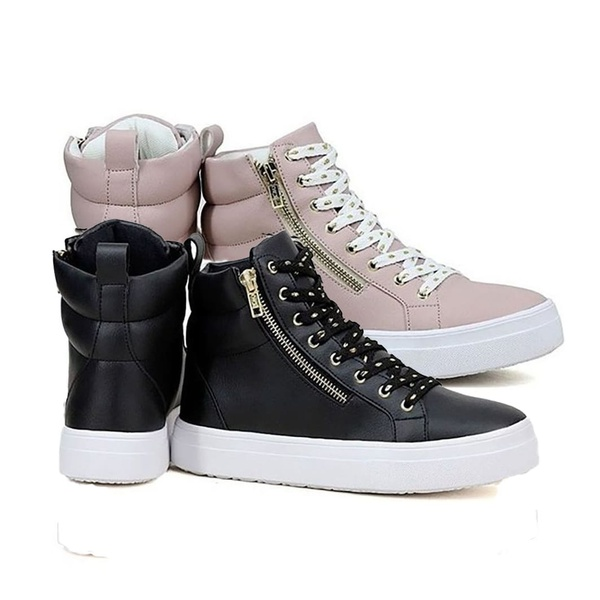 Kit 2 Pares Sneaker Feminino Botinha De Academia Antiderrapante
