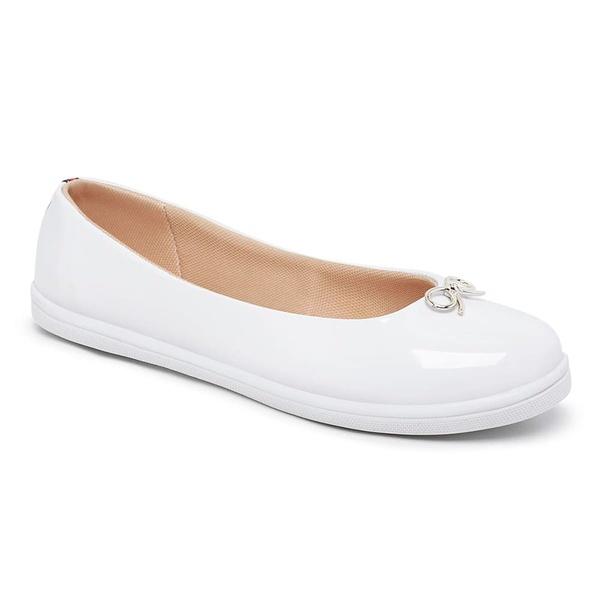 Sapatilha Feminina Branco Conforto Bico Redondo SPTL01-WEL