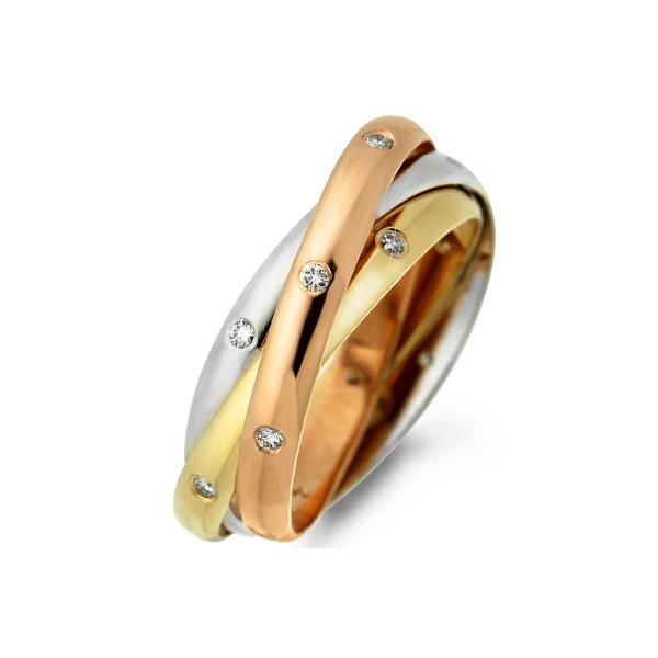 Aliança Cartier com Diamantes - Ouro 18k