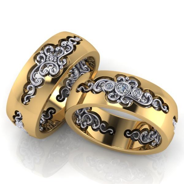 Aliança Glamour com Diamantes