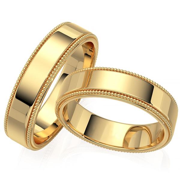 Aliança de Casamento em Ouro 18k Polido