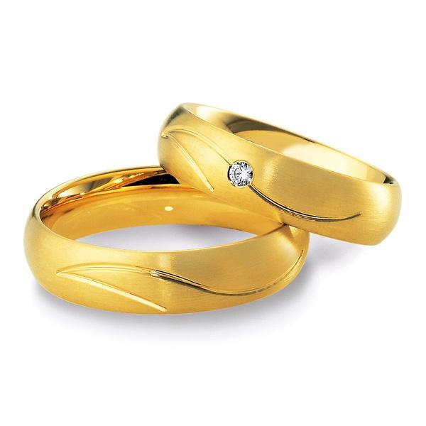 Aliança de Casamento- Ouro 18k com Diamantes