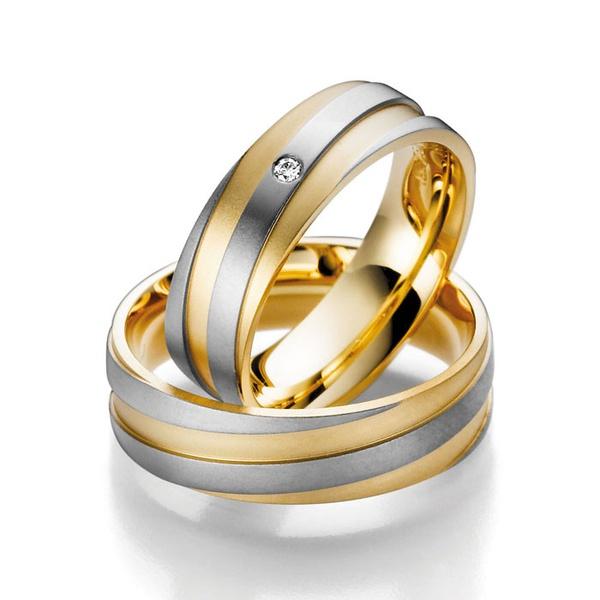 Aliança Bodas de Prata em Ouro 18k