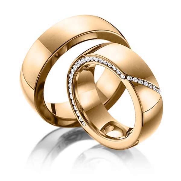 Aliança de Casamento com Diamantes nas Laterais