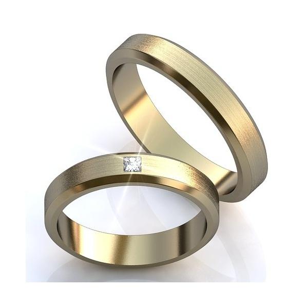 Aliança de Casamento com Diamante Prince