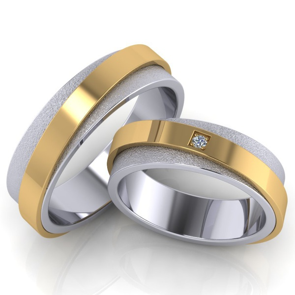 Aliança em Ouro 18k Bodas e Casamento