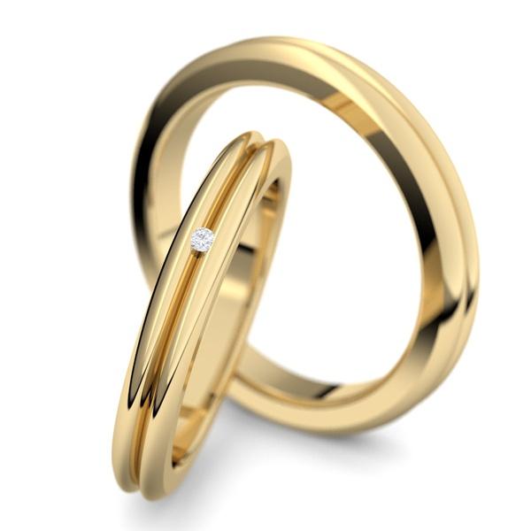 Aliança de Ouro com Diamantes