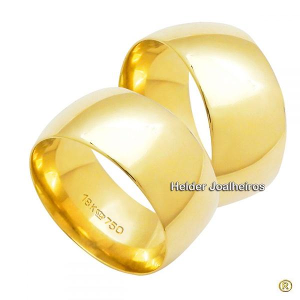 Aliança Clássica 9,0 Milímetros de Ouro 18k - Casamento e Noivado