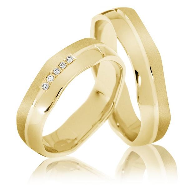 Aliança de Casamento Ondas