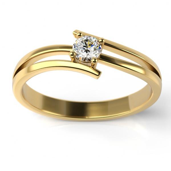 Solitário Ouro 18k com Diamante